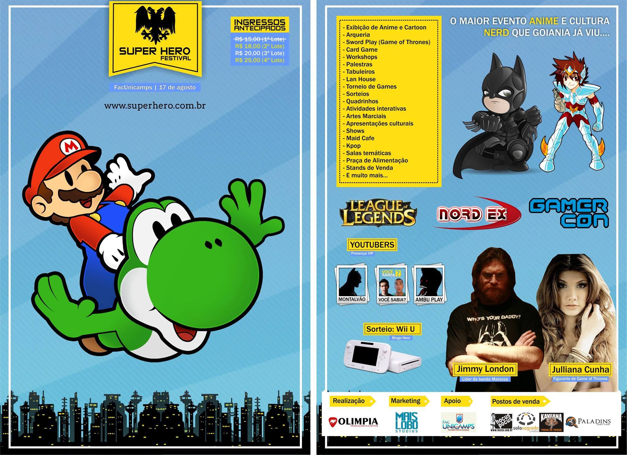 Super hero festival 2014 flyer