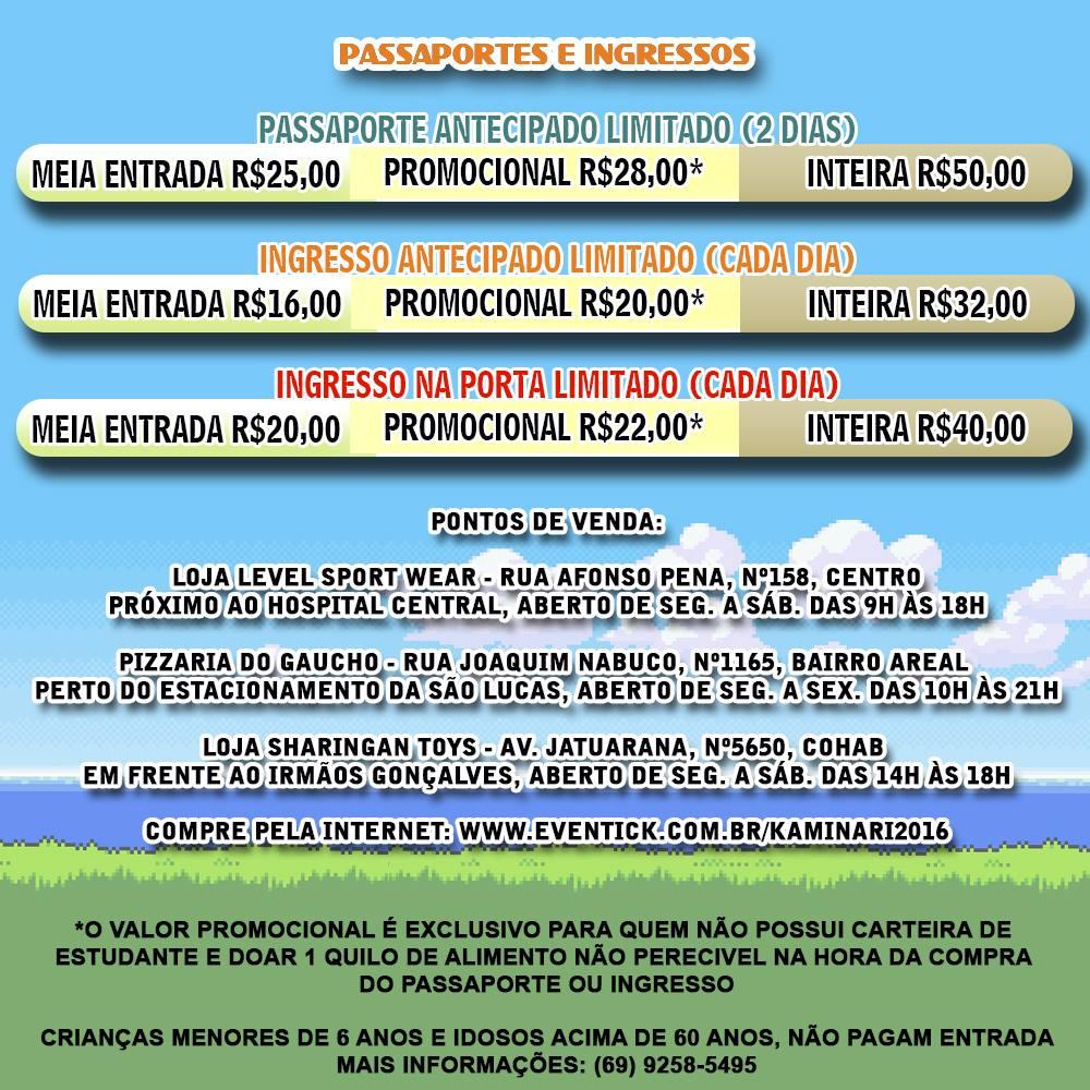 Kaminari Rondônia 10ª Edição (ingressos)