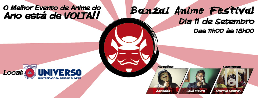 [Evento] Banzai Anime Festival 2016